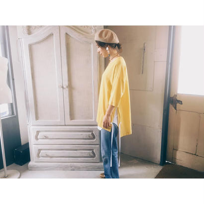 THEE 「Slit shirts」mustard