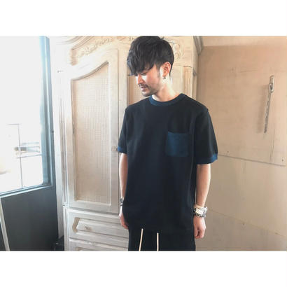 PHINGERIN 「KNIT TRIM TEE」
