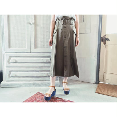 DOMENICO+SAVIO 「MILITALY BELTED SKIRT」