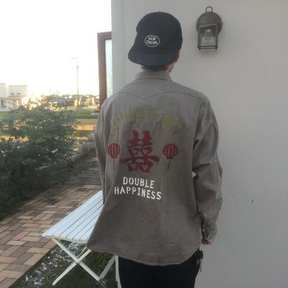 Black Weirdos  China Denim Shirt