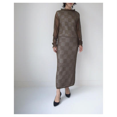 TAN.「MESHES LONG ONEPIECE」