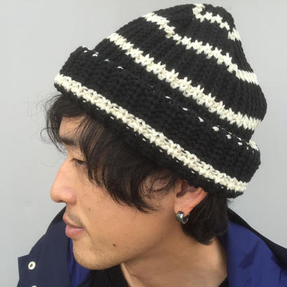 SON OF THE CHEESE 「BORDER KNIT CAP」  black border