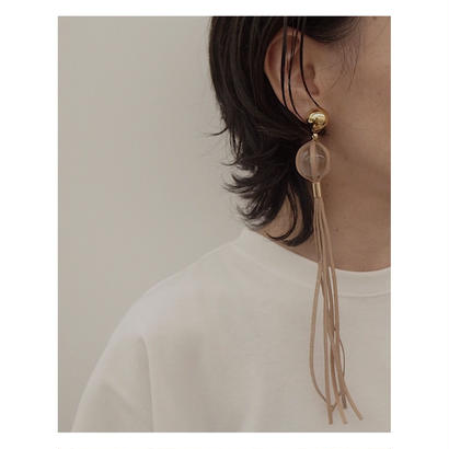 THE Dallas「clear ball earring」