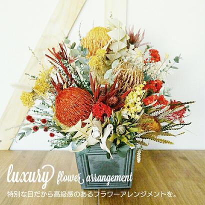 『豪華で高級感のある花のプレゼント luxury No.01』記念日や誕生日のプレゼントに