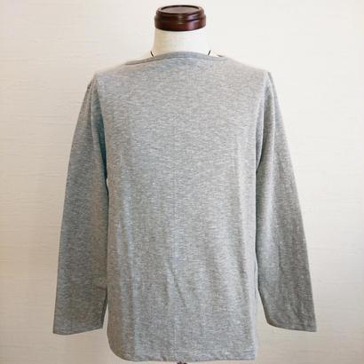 【Tieasy AUTHENTIC CLASSIC/ティージーオーセンティッククラシック】ボートネックバスクシャツ グレー