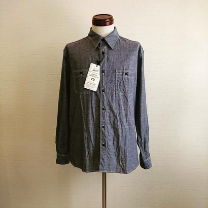 【BARNS OUTFITTERS/バーンズアウトフィッターズ】シャンブレーシャツ