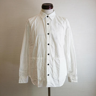【modem design/モデムデザイン】Work Pocket Shirt ホワイト