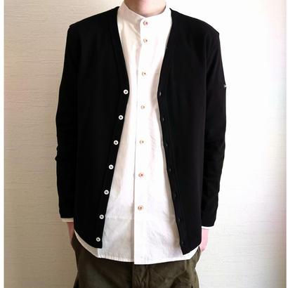 【SAINT JAMES/セントジェームス】Cotton Cardigan  コットンカーディガン ブラック