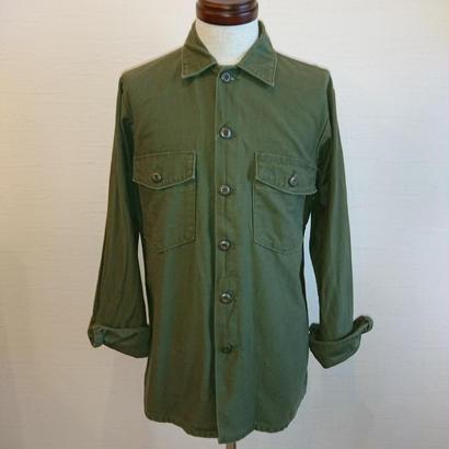 【US.Army 70´S Utility Shirt Used 】アメリカ軍 70年代 ユーティリティシャツ 15-35(メンズMサイズ相当)used