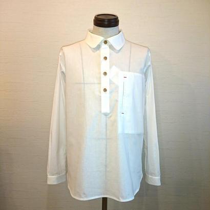 【FUTTEN/フッテン】プルオーバーシャツ ホワイト