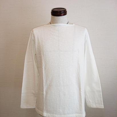 【Tieasy AUTHENTIC CLASSIC/ティージーオーセンティッククラシック】ボートネックバスクシャツ ホワイト