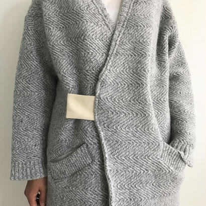 【sneeuw】横ヘリンボンニットコート