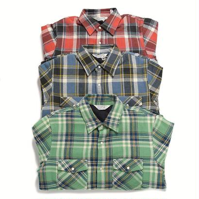 ※残りGREENのみ <FIVE BROTHER> HEAVY NEL Quilting Shirts