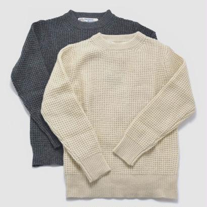 【BARNS】シェットランド クルーネックセーター