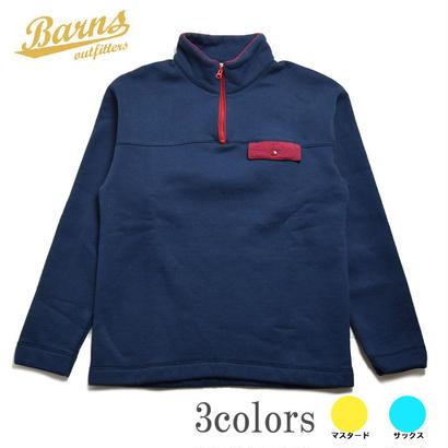 <BARNS> ハーフZIP Cozun Pullover レトロ BR-7700