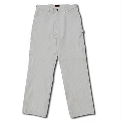 HARDEE HIGHEST HERRINGBONE PAINTER PANTS WHITE