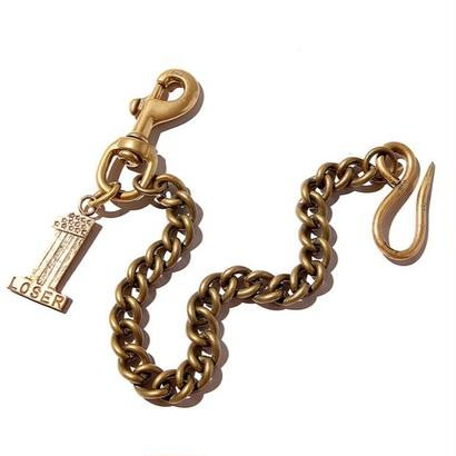 CUT RATE  NO,1 LOGO CHARM WALLET CHAIN MADE BY LARRY SMITH GOLD CR-17SS103