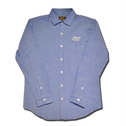 HARDEE SIDEWAY L/S SHIRT BLUE