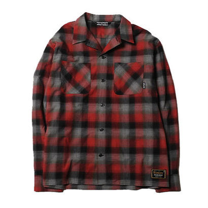 CUT RATE L/S CHECK SHIRT RED CR-17AW014