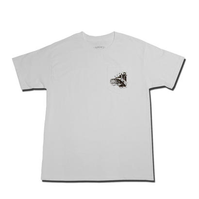 HARDEE RIDE WITH ME POCKET T-SHIRT WHITE