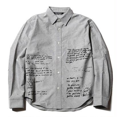 CUTRATE  L/S OXFORD SHIRT GRAY CR-17SS012