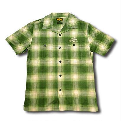 HARDEE SOUTH S/S CHECK SHIRT GREEN