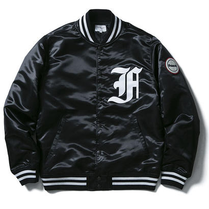 FUCT SSDD FIRST DIVISION SATIN JACKET BLACK
