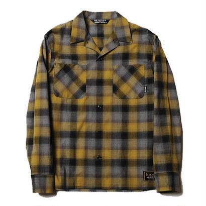 CUT RATE L/S CHECK SHIRT MUSTARD CR-17AW014