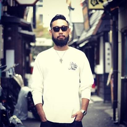 HARDEE CYCLE L/S THERMAL T-SHIRT WHITE
