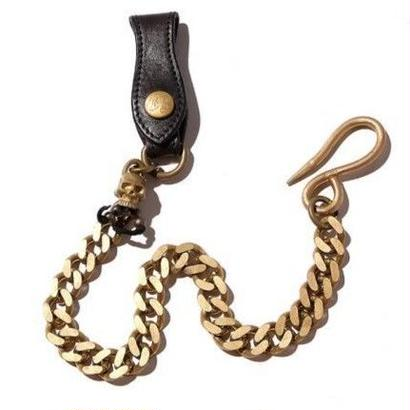 CUT RTAE WALLET CHAIN COW LEATHER&BRASS CR-16ST020