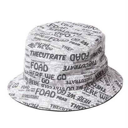 CUT RATE ALLOVER BUCKET HAT GRAY CR-16ST0035