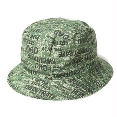 CUT RATE ALLOVER BUCKET HAT GREEN CR-16ST0035