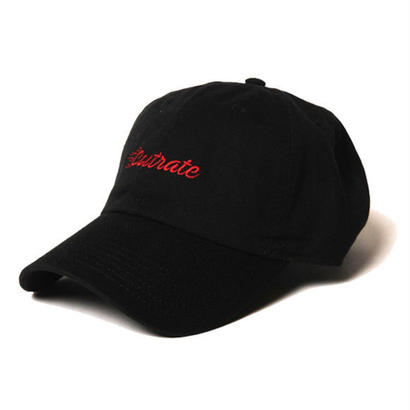 CUT RATE EMBROIDERY CAP BLACK CR-17AW007