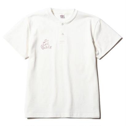 CUTRATE  HENLEY NECK T-SHIRT WHITE  CR-17SS039