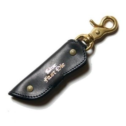 CUTRATE LEATHER KEY  CASE  BLACK CR16-ST040