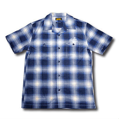 HARDEE SOUTH S/S CHECK SHIRT BLUE