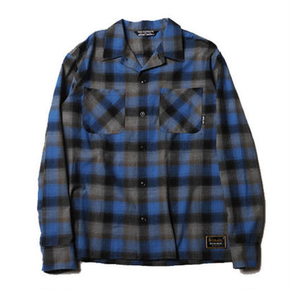 CUT RATE L/S CHECK SHIRT BLUE CR-17AW014