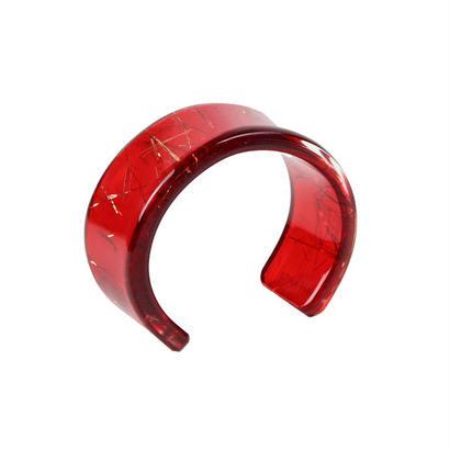 Oval Bangle Red / オーバルバングル レッド