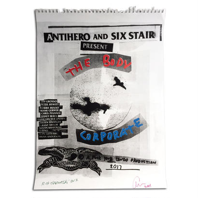 "ANTI HERO AND SIX STAIR ""THE BODY CORPORATE"" LIMITED HAND SCREENED POSTER"