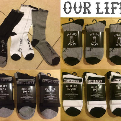 OUR LIFE  BURN BARREL SOCKS
