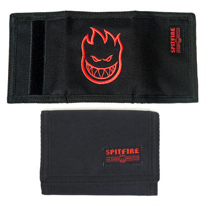 SPITFIRE BIGHEAD EMBROIDERY TRIFOLD VELCRO WALLET