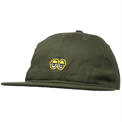 KROOKED EYES EMBROIDERY STRAPBACK CAP