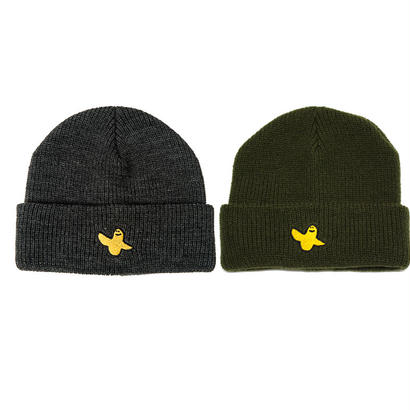 KROOKED YG BIRD EMBROIDERY CUFF BEANIE