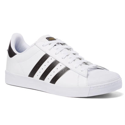 ADIDAS SKATEBOARDING SUPERSTAR VULC ADV SKATE SHOES WHITE / BLACK / WHITE