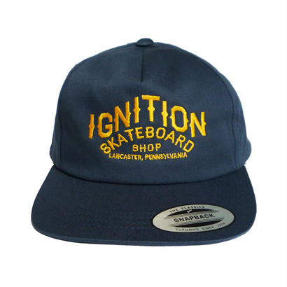 IGNITION SKATESHOP  LOGO EMBROIDERY CAP