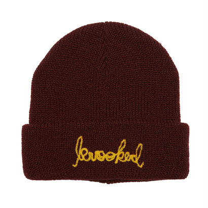 KROOKED SIGNATURE EMBROIDERY CUFF BEANIE