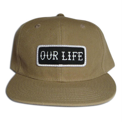 OUR LIFE  PATCH LOGO SNAPBACK CAP