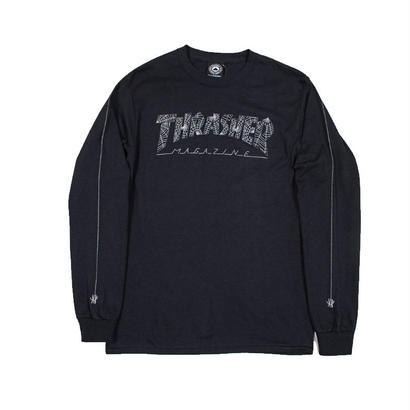 THRASHER  WEB L/S TEE