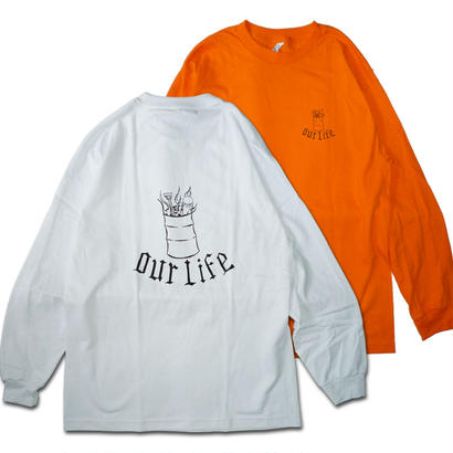 OUR LIFE BURN BARREL L/S TEE BY CHRIS LINDIG