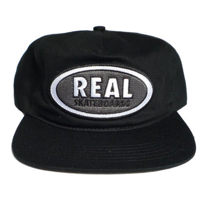 REAL OVAL PATCH SNAPBACK CAP